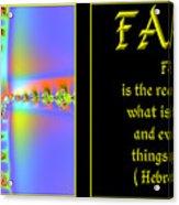 Fractal Faith Hebrews 11 Acrylic Print