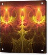 Fractal Fireworks Acrylic Print