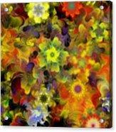 Fractal Floral Study 10-27-09 Acrylic Print