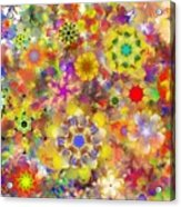 Fractal Floral Study 2 Acrylic Print