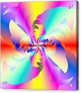 Fractal Rainbow Acrylic Print