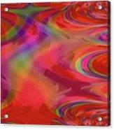 Fractal Red Acrylic Print
