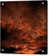Fractal Sunset Acrylic Print