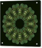 Fractal Wreath-32 Spring Green T-shirt Acrylic Print