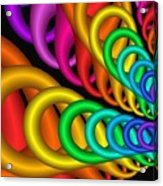 Fractalized Colors -5- Acrylic Print by Issabild -
