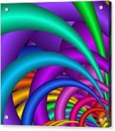 Fractalized Colors -6- Acrylic Print by Issabild -