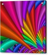Fractalized Colors -7- Acrylic Print by Issabild -