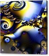 Fractured Fractal Spirals  Acrylic Print