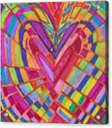 Fractured Heart Acrylic Print