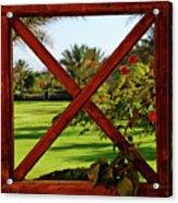 Frame I Acrylic Print by Chaza Abou El Khair