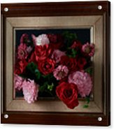 Framed Bouquet Of Flowers Acrylic Print