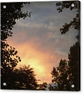 Framed Fire In The Sky Acrylic Print