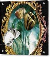 Framed Flowers Acrylic Print