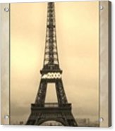 Framed In Paris  Acrylic Print