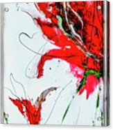 Framed Scribbles And Splatters On Canvas Wrap Acrylic Print