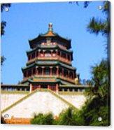 Framed Summer Palace Acrylic Print