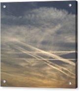 France, Paris, Tail Of Smoke In Sky Acrylic Print