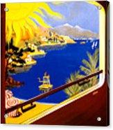 France Vintage Travel Poster Restored Acrylic Print