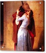 Francesco Hayez Il Bacio Or The Kiss Acrylic Print