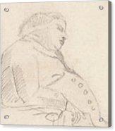 Francis Grose Asleep In A Chair Acrylic Print