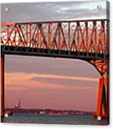 Francis Scott Key Bridge At Sunset Baltimore Maryland Acrylic Print