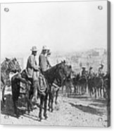 Francisco Pancho Villa (1878-1923). Mexican Revolutionary Leader. Photographed While Reviewing Troops, C1914 Acrylic Print