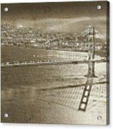 Francisco Sky Line Vintage  Acrylic Print