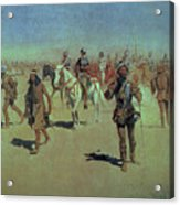 Francisco Vasquez De Coronado Making His Way Across New Mexico Acrylic Print