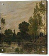 Francois Daubigny   Alders Acrylic Print