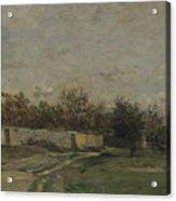 Francois Daubigny   The Garden Wall Acrylic Print