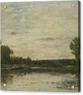 Francois Daubigny   View On The Oise Acrylic Print