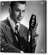 Frank Sinatra At  Nbc Radio Station 1941 Acrylic Print