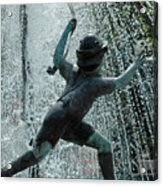 Frankenmuth Fountain Boy Acrylic Print