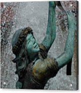 Frankenmuth Fountain Girl Acrylic Print