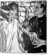 Frankenstein And His Bride Acrylic Print