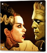 Frankenstein And The Bride I Have Love In Me The Likes Of Which You Can Scarcely Imagine 20170407 Acrylic Print