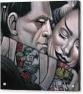 Frankenstein And Wife  Acrylic Print