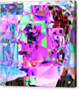 Frankenstein In Abstract Cubism 20170407 Square Acrylic Print