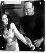 Frankensteins Monster Molests Young Girl Boris Karloff Acrylic Print