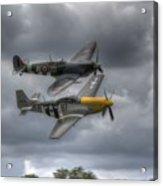 Frankie And Spitfire Acrylic Print