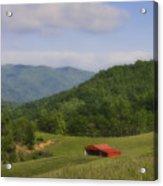 Franklin County Virginia Red Barn Acrylic Print by Teresa Mucha