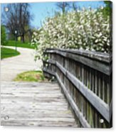 Franklin Park Conservatory Footbridge Acrylic Print