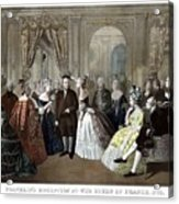 Franklin's Reception At The Court Of France Acrylic Print