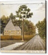 Fraser  Charles   Meeting House In Prince Williams Parish From Untitled Sketchbook Acrylic Print