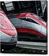 Freccia Rossa Trains. Acrylic Print