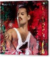 Queen Freddie Mercury Acrylic Print