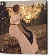 Frederic Bazille   The Pink Dress Acrylic Print