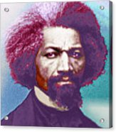 Frederick Douglass Painting In Color Pop Art Acrylic Print