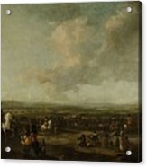 Frederick Henry At The Surrender Of Maastricht  22 August 1632  Manner Of Pieter Wouwerman 1633   1 Acrylic Print