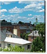 Fredericksburg Roof Tops Acrylic Print